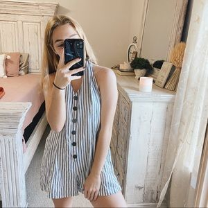 COOPERATIVE URBAN LARGE STRIPED OVERALL ROMPER